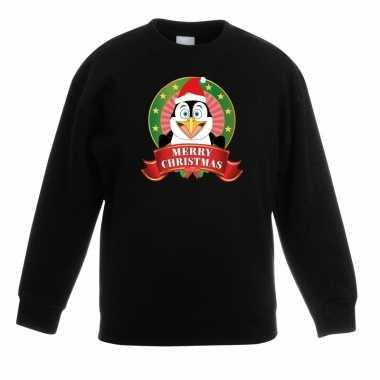 Kersttrui een pinguin zwart jongens meisjes