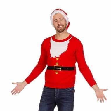 Kersttrui kerstman heren