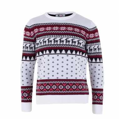 Kersttrui volwassenen nordic wit