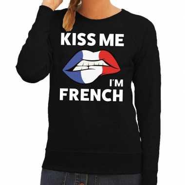 Kiss me i am french trui zwart dames