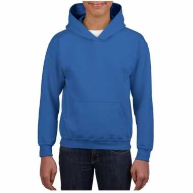 Kobalt blauwe capuchon trui voor jongens