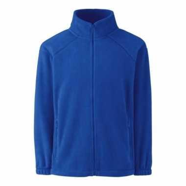 Kobaltblauw fleece trui jongens