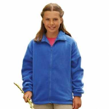 Kobaltblauw fleece trui meisjes