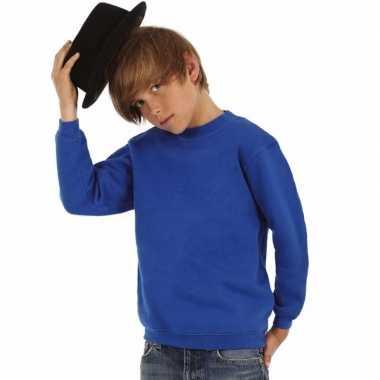 Kobaltblauwe katoenmix trui voor jongens