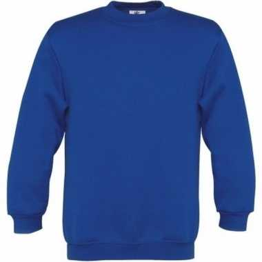 Kobaltblauwe katoenmix trui voor meisjes