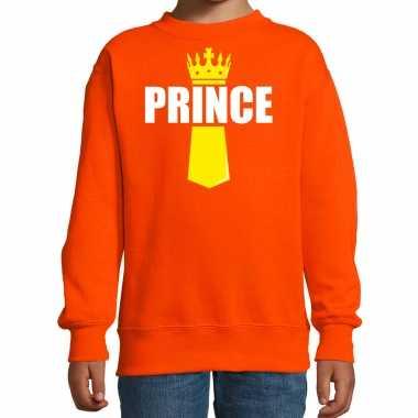 Koningsdag trui / trui prince kroontje oranje kinderen