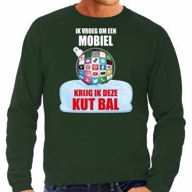 Kut kerstbal trui / kerst outfit ik vroeg om een mobiel krijg ik deze kut bal groen heren
