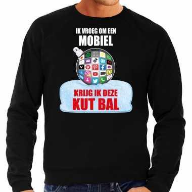 Kut kerstbal trui / kerst outfit ik vroeg om een mobiel krijg ik deze kut bal zwart heren
