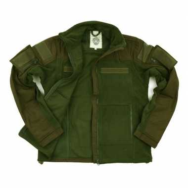 Legergroen combat trui fleece