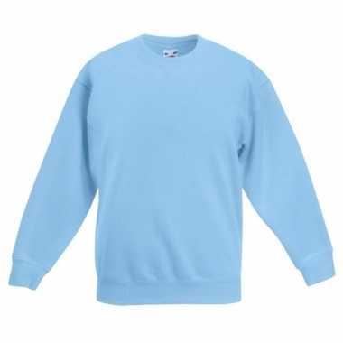 Lichtblauwe katoenmix trui voor meisjes