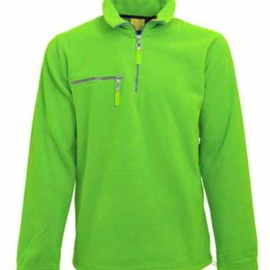 Lime fleece trui volwassenen