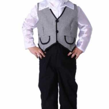Luxe boeren jongetje kostuum petje trui