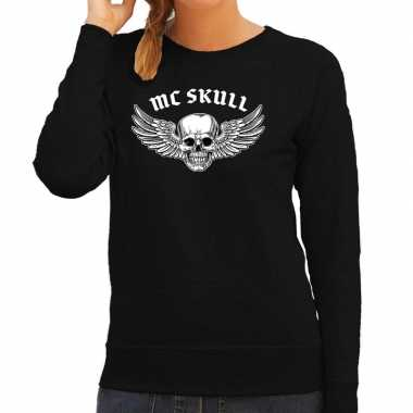 Mc scull fashion trui rock / punker zwart dames