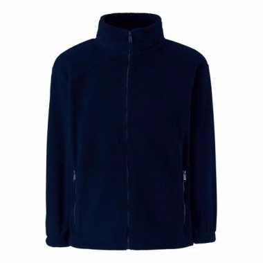 Navy blauw fleece trui jongens