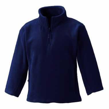Navy blauwe fleece trui voor meisjes
