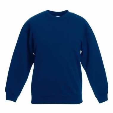 Navy blauwe katoenmix trui voor meisjes
