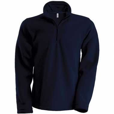 Navy micro polar fleece trui heren