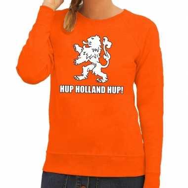 Nederland supporter trui hup holland hup oranje dames