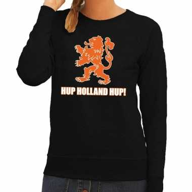 Nederland supporter trui hup holland hup zwart dames