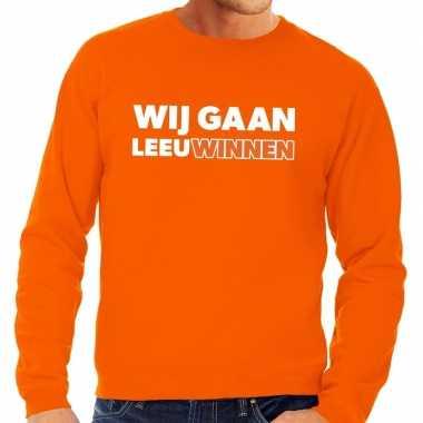Nederland supporter trui wij gaan leeuwinnen oranje heren