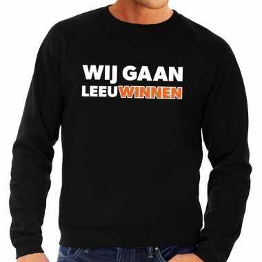 Nederland supporter trui wij gaan leeuwinnen zwart heren
