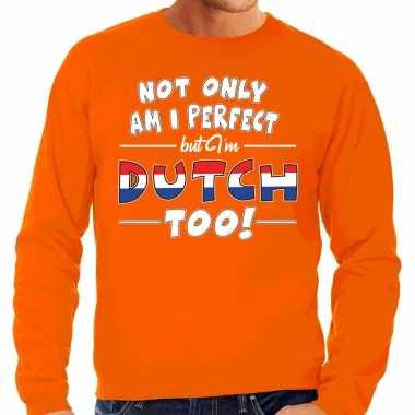 Not only perfect dutch / nederland trui oranje heren