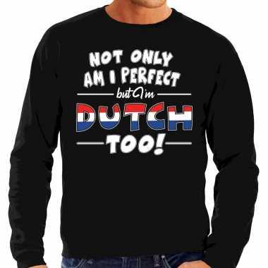Not only perfect dutch / nederland trui zwart heren