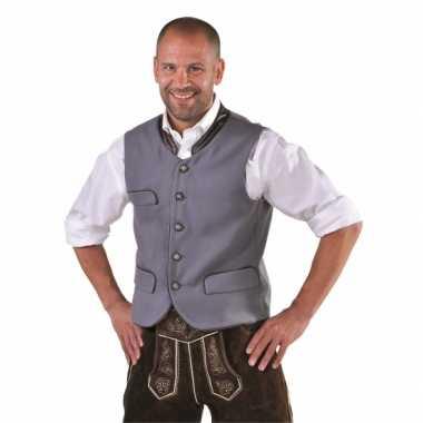 Oktoberfest duitse klederdracht trui grijs
