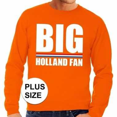 Oranje big holland fan grote maten trui / trui heren