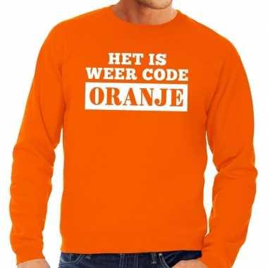 Oranje code oranje trui heren
