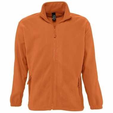 Oranje fleece trui volwassenen