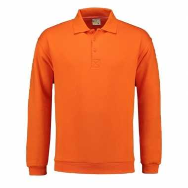 Oranje heren trui polo kraag