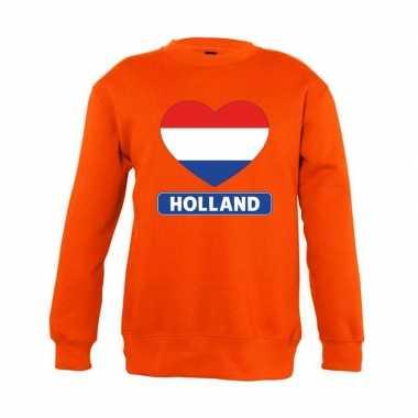 Oranje holland hart vlag trui kinderen