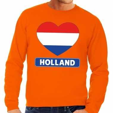 Oranje holland hart vlag trui volwassenen