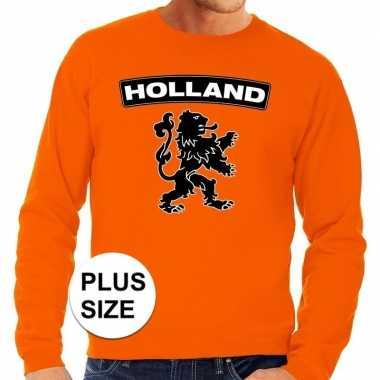 Oranje holland leeuw grote maten trui / trui heren