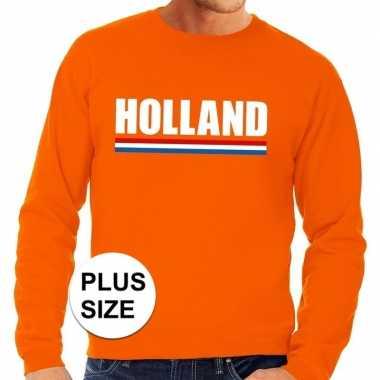 Oranje holland supporter grote maten trui / trui heren