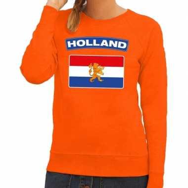 Oranje holland vlag trui dames