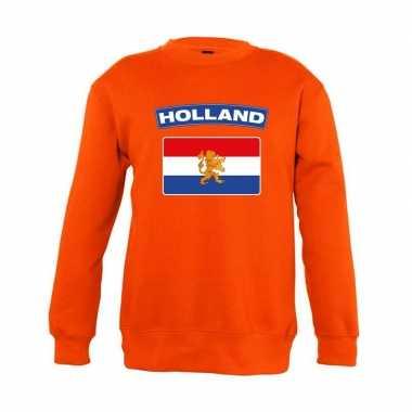 Oranje holland vlag trui kinderen