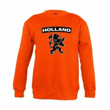 Oranje holland zwarte leeuw trui kinderen