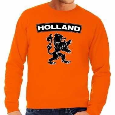 Oranje holland zwarte leeuw trui volwassenen