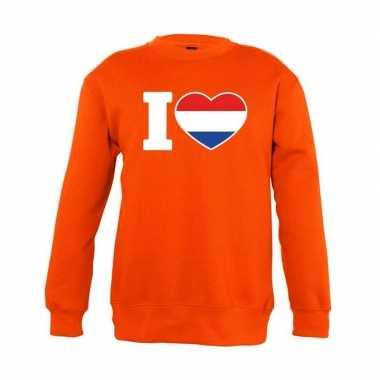 Oranje i love holland trui kinderen