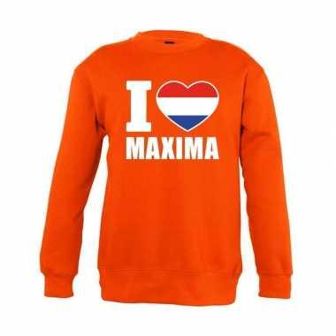 Oranje i love maxima trui kinderen