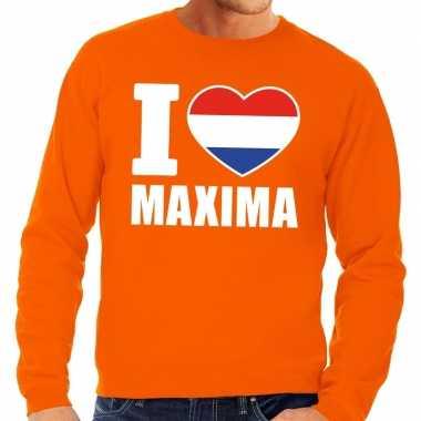 Oranje i love maxima trui volwassenen