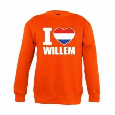 Oranje i love willem trui kinderen