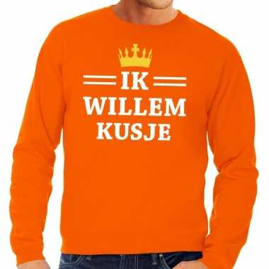 Oranje ik willem kusje trui heren