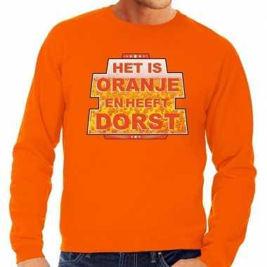 Oranje is oranje heeft dorst trui heren