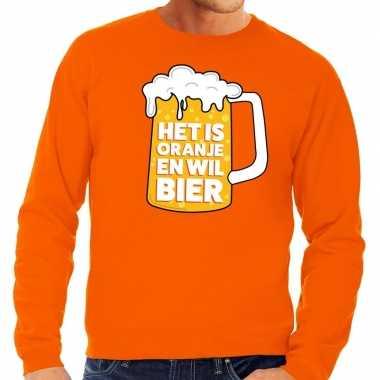 Oranje is oranje wil bier trui heren