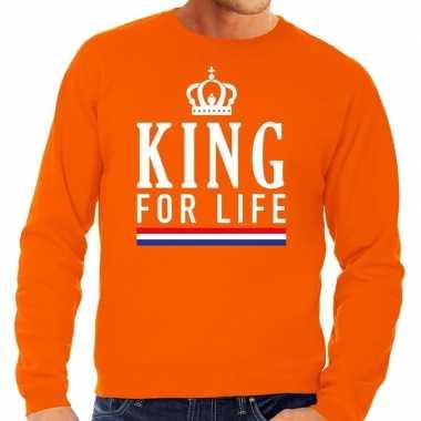 Oranje king for life trui heren