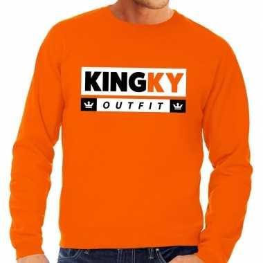 Oranje kingky outfit trui heren