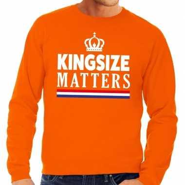 Oranje kingsize matters trui heren
